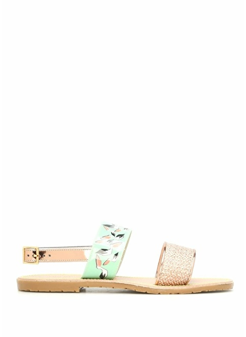 Leo Studio Design Pelikan Baskılı Sandalet Renkli
